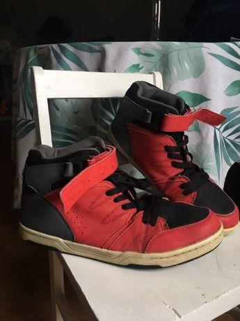 Czerwone Buty zimowe niskie Vty Deichmann streetwear vintage