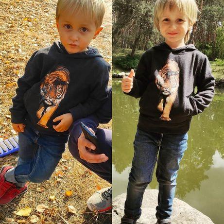 Реглан кофта ковта на мальчика ростом 110 см, джинсы рост 98 см