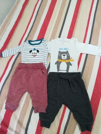 Одежда для малыша 0-3 месяца, штанишки и боди