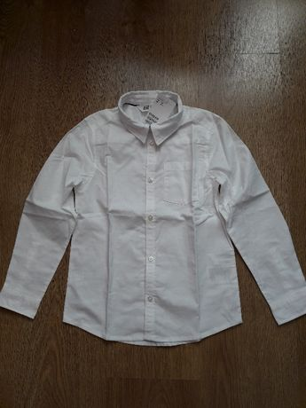 H&M - elegancka biała koszula r.128