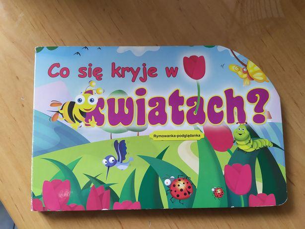 Co się kryje w kwiatach książka dla dzieci manualna
