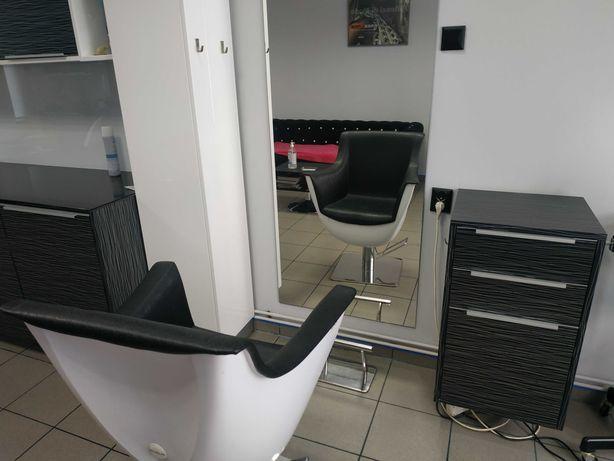 Wyposażenie salonu fryzjerskiego myjka fotel szafka lustro Ayala