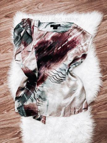 Calvin klein elegancka bluzka koszula S M 36 38 z falbanką falbana