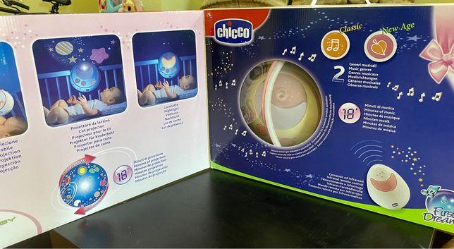 Мобиль Chicco с проектором Волшебные звезды. Чико мобиль на кроватку.