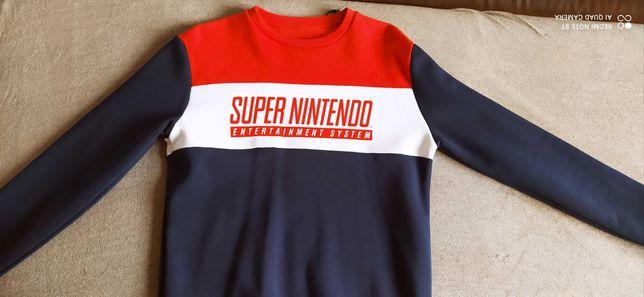 Nowa oryginalna bluza męska, młodzieżowa SUPER NINTENDO. Rozmiar M