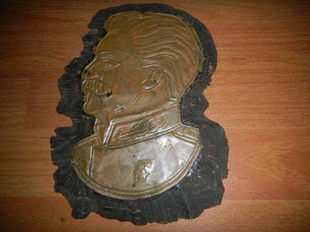 картина чеканка барельеф Сталин Медь