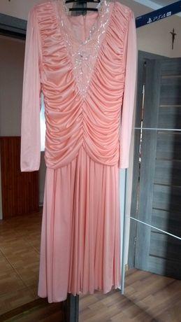 Suknia vintage z czasów PRL amerykańska rozm s m