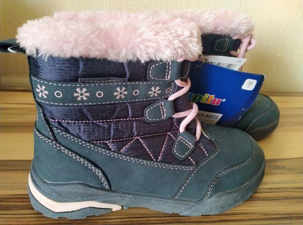 Чоботи, чобітки, черевики, сапоги, сапожки зимние Lupilu