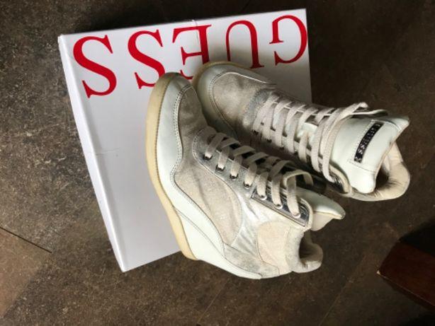 Buty sneakersy GUESS na koturnie Białe r.39 oryginalne