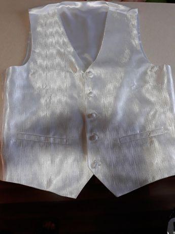 Komplet ślubny kamizelka krawat i butonierka