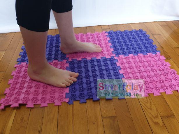 Коврик массажный Акупунктурный для ног и спины Лотос 6 элементов