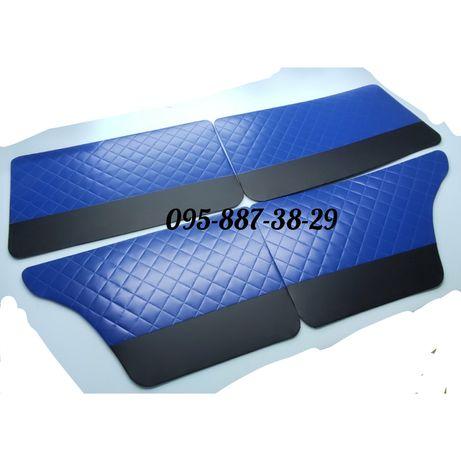 Обшивки дверей, дверные карты ВАЗ 2101-2107 Люкс СИНИЕ!!!