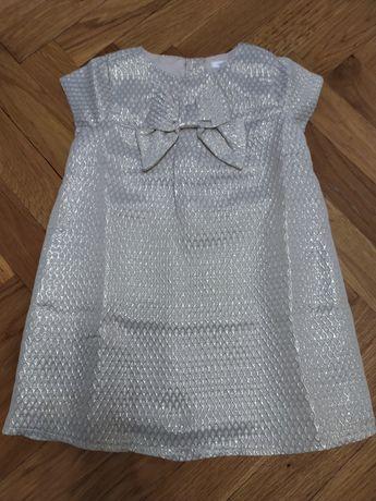 Sukienka elegancka dla dziewczynki rozmiar 80