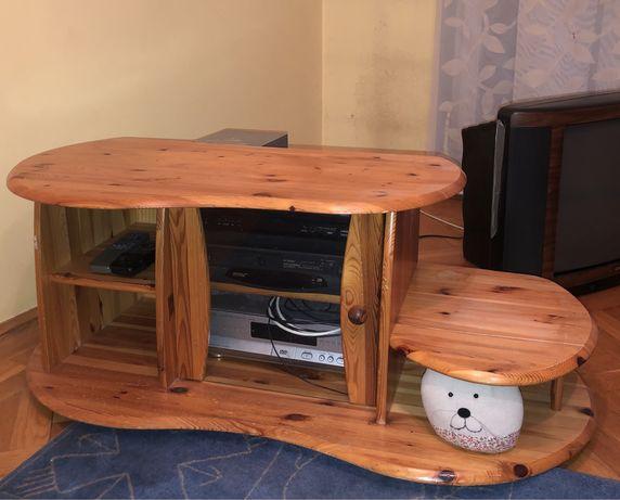 Szafka komoda z drewna sosnowego na kółkach