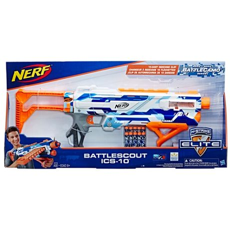 Бластер Нерф Nerf N-Strike Elite BattleScout ICS-10. Оригинал.