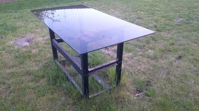 Stół ogrodowy szklany 130x70