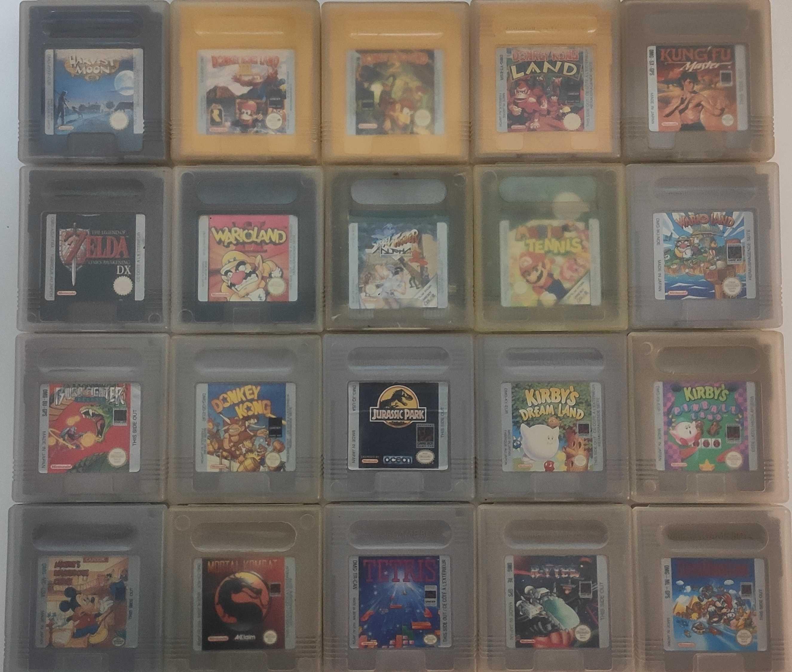 GB GBC GBA Jogos  Kirby Mario Street R Type Tetris Mickey Moon GameBoy