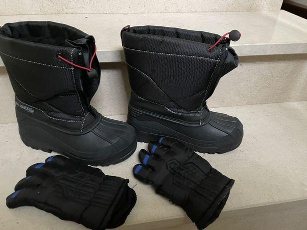 Botas Berg tamanho 35 para a neve - oferta de luvas