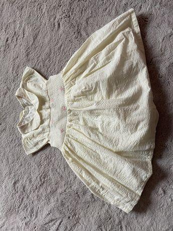 Sukienka z majteczkami wiosenna nowa roz 12-18 miesiecy