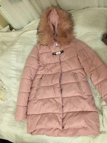 Пуховик розовый