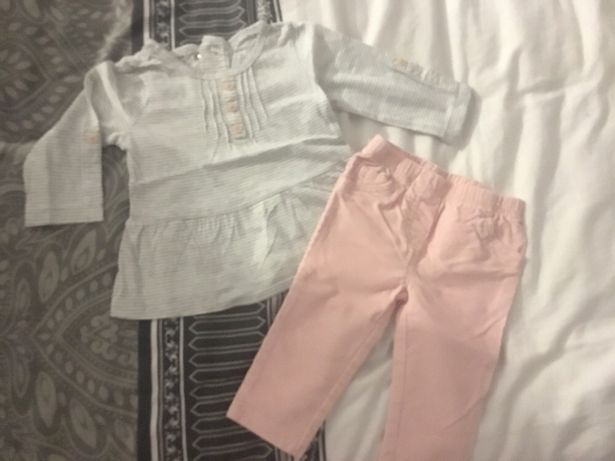 Komplet bluzka i spodnie 6-9 m rozm 74