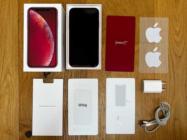 Apple iPhone XR Product RED Czerwony 64 GB Jak nowy Bateria 95%