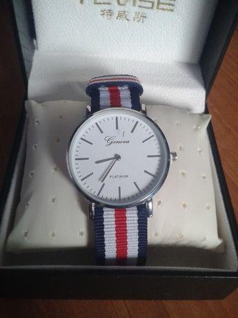 Zegarek kwarcowy Geneva Platinum na pasku styl DW Wellington