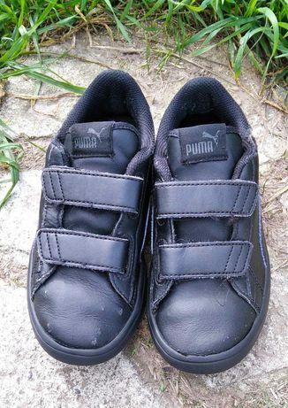 Кроссовки Puma Foam+, кожаные, 32-33 р, для мальчика на липучках,