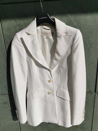 Biała elegancka marynarka Karen Millen 34