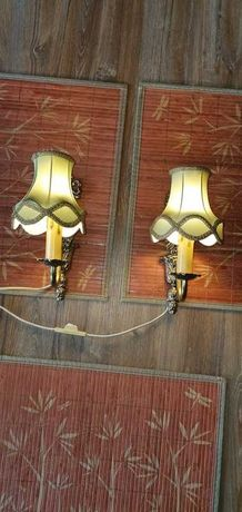2 lampki na ścianę-kinkiet w stylu retro