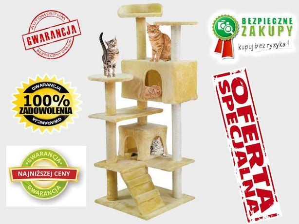 Drzewko dla kota 120cm beżowo-białe prezent najnowszy model HIT KURIER