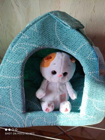 Новый лежак-домик для собак и кошек Collar Пирамида 38*38