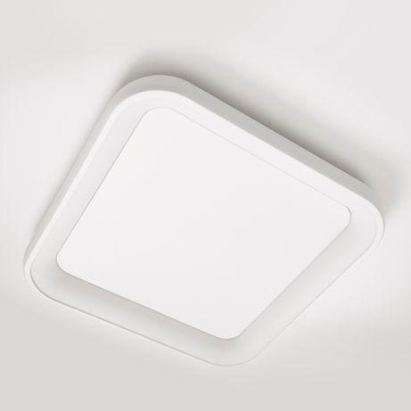 Lampa sufitowa duży plafon LED ARCA Biały Zaokrąglony Kwadrat