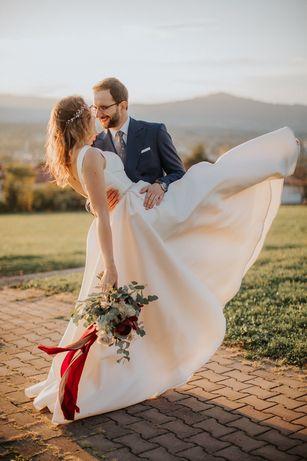 Przepiękna suknia ślubna  WELON I SZAL GRATIS!