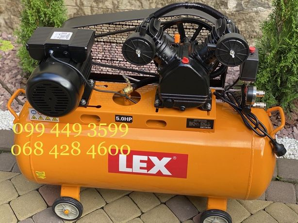 Компрессор LEX LXC 100-2, компрессор 100 л, 660 л/мин