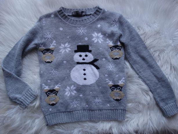 świąteczny sweterek bałwanek
