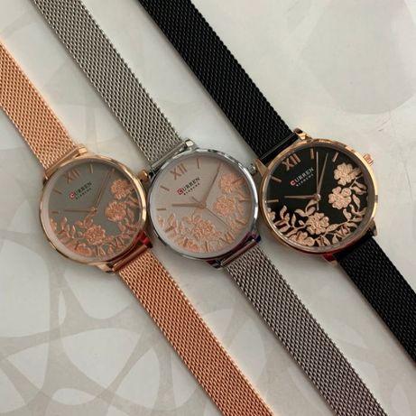 Женские металлические часы Curren Blanche с цветами годинник жіночий