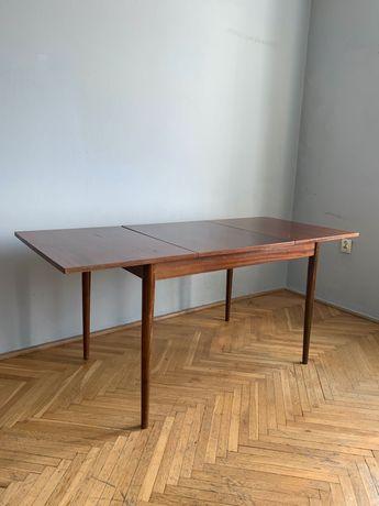 Stół PRL rozkładany fornirowany