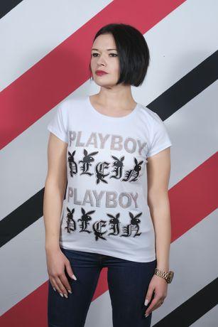Футболка женская Playboy со стразами