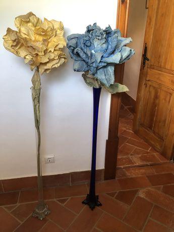 Jarras solitárias - azul e transparente