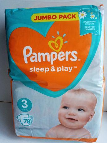 Подгузники Pampers Sleep & Play Размер 3 (Midi) 6-10 кг, 78 шт