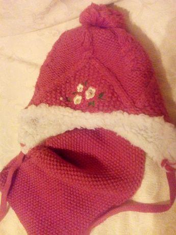 Набор шапка и шарфд детская зимняя для девочки от 4 до 6 лет.
