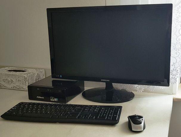 """Zestaw komputerowy Asrock ION 330 , monitor 24"""" Samsung, klaw + mysz"""