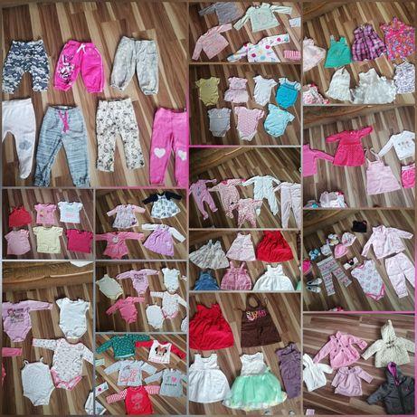 Mega paka ubranek dla dziewczynki 3-12 miesięcy 74-86