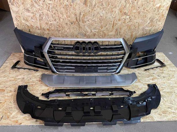 Бампер Передний Audi Q7 4M Решетка Радиатора Молдинг Спойлер 2016-2019