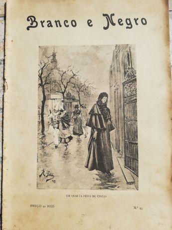 REVISTA ANTIGA Branco e Negro nº49 Ano 1897 - com 124 Anos