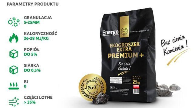 Ekogroszek Extra Premium 4%popiół 26 - 28 mj węgiel najlepszy w PL