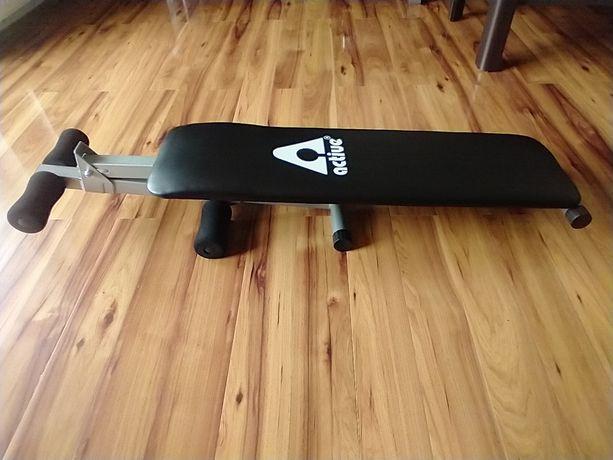 Ławka ławeczka regulowana skośna do ćwiczeń brzuszki - Active
