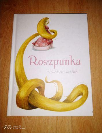 Roszpunka, ilustrowana.