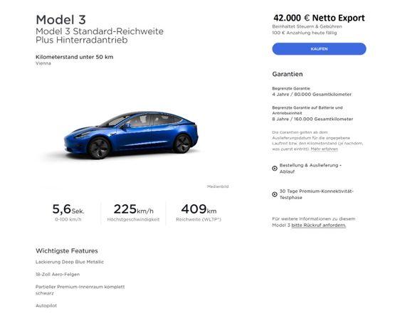Tesla Model 3, Model X - новая из Австрии